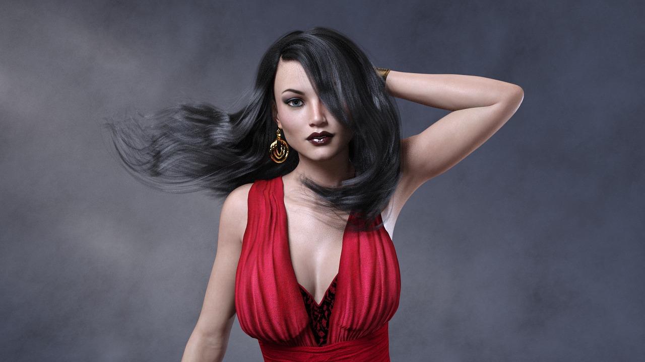 Красива жена манекенка